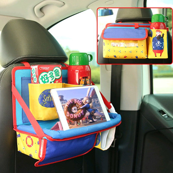 Universal Baby Car Hanging Basket Storage Bag Car Seat Back Organizer With Tablet Holder Travel Storage BagStroller Accessories