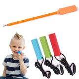 1pcs baby teether silicone teething toys pencil teether pen cap food grade chewable necklace pendant kids teeth nursing