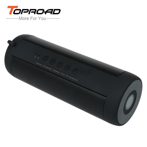 TOPROAD Wireless Bluetooth Speaker Waterproof Portable Outdoor Column Box Stereo Subwoofer Loudspeaker