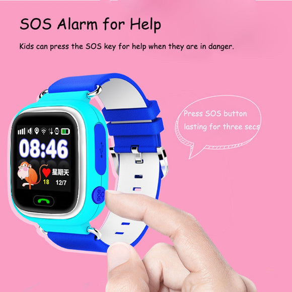 Q90 Smart Watch Kids SOS Alarm Clock GPS WIFI Bluetooth Anti-lost SIM Card For Children's Smart Watches Phone Gift