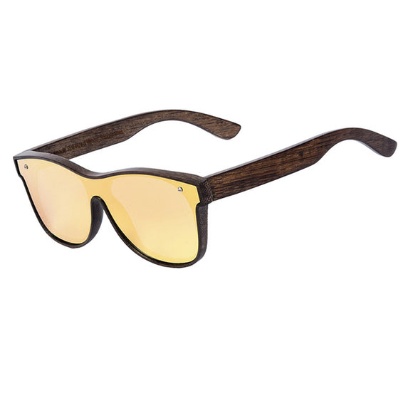Sunglasses Men Transparent Lens Wood - ziloqa