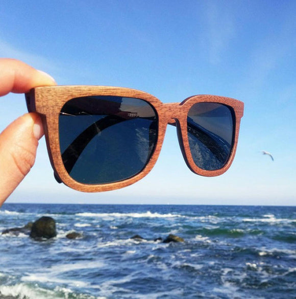 Walnut Wood Sunglasses Women Polarized