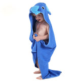 Kids Towel 2018 Toddler 100% Cotton Bathrobe Baby Boys Girls Spring Animal Hooded Bath Towel Children Cartoon Towel QWA - ziloqa