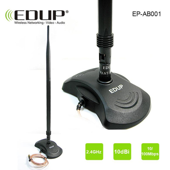 EDUP High gain 10dBi wifi Antenna 802.11n for  adapter router and repeater strong signal 2.4ghz