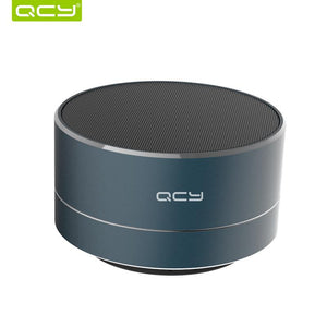 QCY A10 wireless bluetooth speaker metal mini portable speaker subwoof with MIC support TF card FM radio - ziloqa