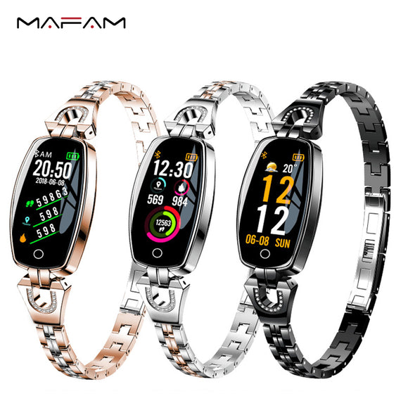 H8 Smart Band Women Blood Pressure Step Fitness Tracker Heart Rate Monitor Smart Bracelet Multiple Sport Waterproof Wristband