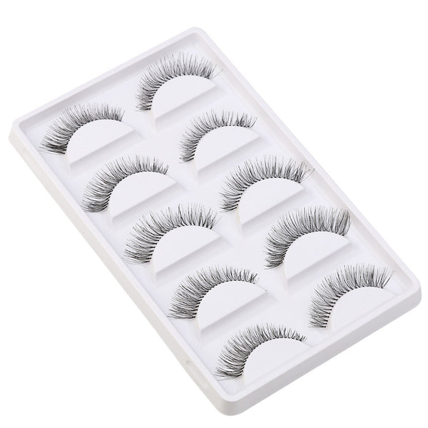 Crisscross False Eyelashes Lashes Voluminous Hot Eye Lashes - 5 Pair/Lot