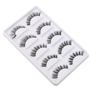 Ziloqa Crisscross False Eyelashes Lashes Voluminous Hot Eye Lashes - 5 Pair/Lot