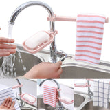 Ziloqa Soap Holder with Towel Shelf For Kitchen And Bathroom - ziloqa