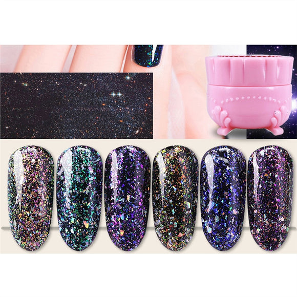 Ziloqa Nail Polish Nail Art magic Colorful Glitter Magic Nail Varnish for Women Aurora Glue 04 - ziloqa