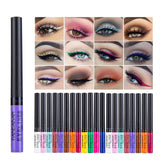 Ziloqa 12pcs Rainbow Colours Liquid Eyeliner Glitter Long Lasting Waterproof Eye Liner Eyeshadow Cosmetics - ziloqa