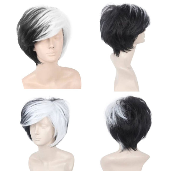 Ziloqa Rocker Men Fashion Short Hair Wig - Perfect For Carnivals / Party / Cosplay / Festival
