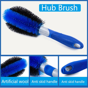 3Pcs/Set Car/Bicycle Wheel Cleaning Brush - iritisencycling-com