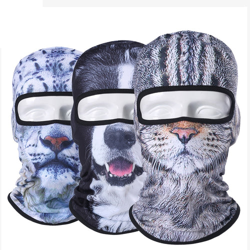 3D Animal Balaclava Motorcycle Full Face Mask- FREE For Limited Time