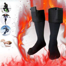 Load image into Gallery viewer, Unisex Electric Heated Socks Rechargeable Battery