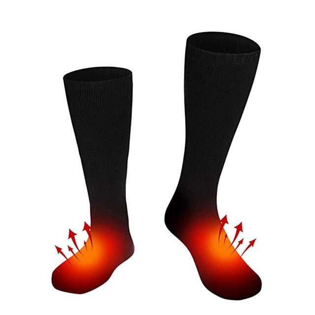 Unisex Electric Heated Socks Rechargeable Battery