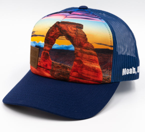 Delicate Arch Trucker Hat - Dark Royal