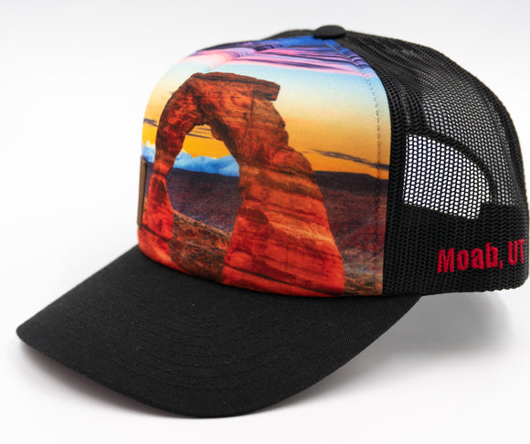 Delicate Arch Trucker Hat - Black