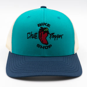 Clean Classic Trucker Hat - Teal/Birch