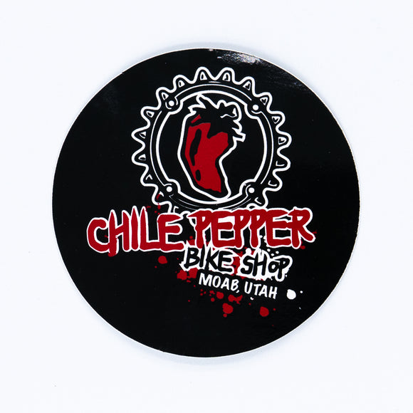 Chile Chainring Splatter Logo Sticker