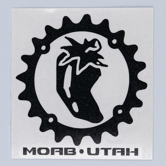 Chile Chainring - Die Cut Sticker - Black