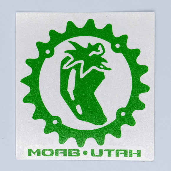 Chile Chainring - Die Cut Sticker - Green