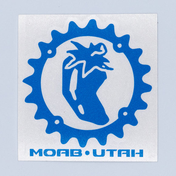 Chile Chainring - Die Cut Sticker - Blue
