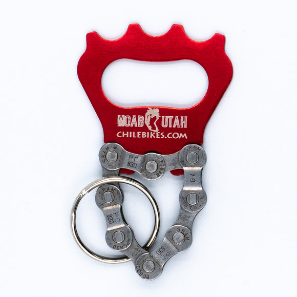 Resource Revival - Short Chain Bottle Opener - Red