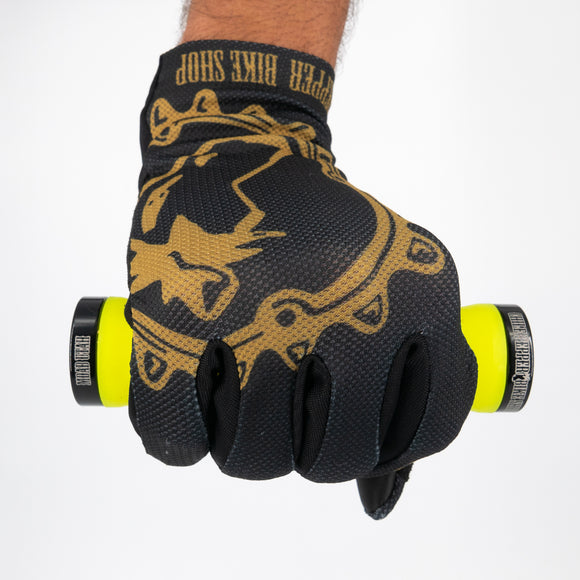 Zoic Chile Gloves - Black/Golden