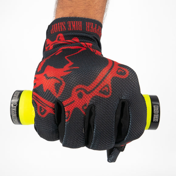 Zoic Chile Gloves - Black/Red
