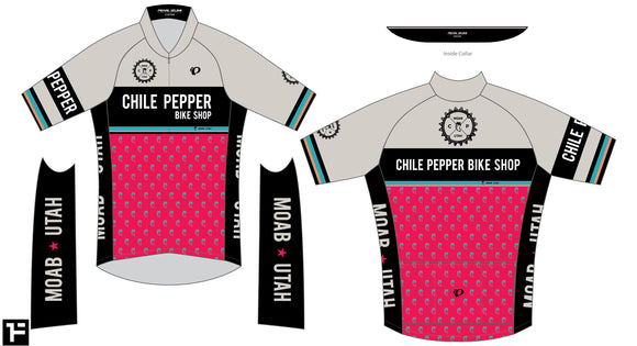 Chile Pepper Bike Shop - Pearl Izumi - Zip Jersey - Womens - White/Red