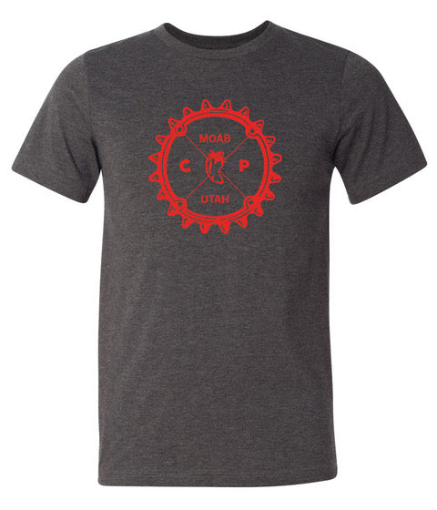 Chile Pepper Bike Shop - Fresh Logo - Mens Tee Shirt - Black
