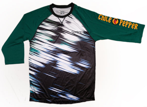Sombrio Mens Chaos Custom Chile Pepper Jersey -  Evergreen