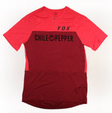 Fox Mens Flexair Zip S/S Custom Chile Pepper Jersey - Pewter Black or Chili