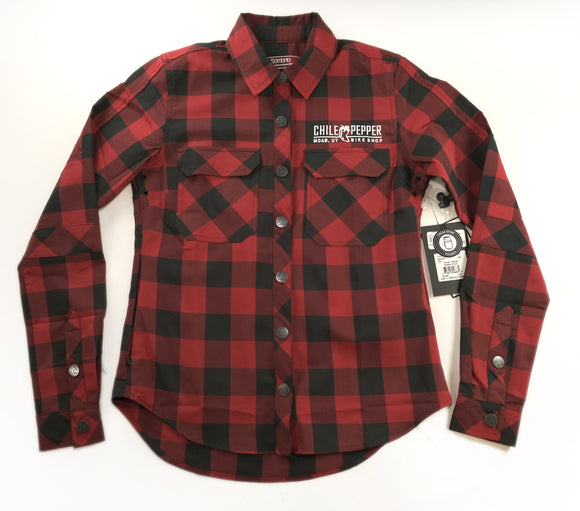 SOMBRIO Womens Silhouette Chile Logo Riding Shirt - Buffalo Plaid