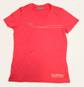 ICEBREAKER WOMEN'S TECH LITE S/S LOW CREWE W/Chile LOGO - Fire