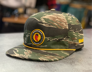 Chile Chainring 5 Panel Hat - Tiger Camo