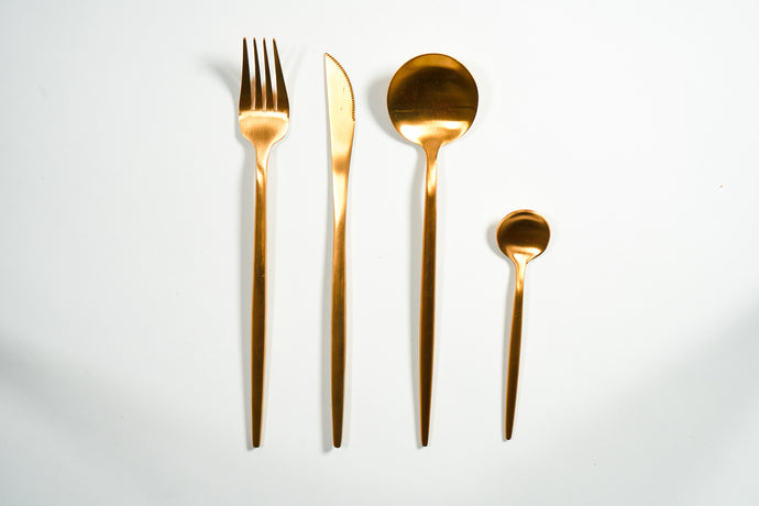 Matte Gold Flatware Set