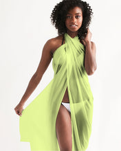 Load image into Gallery viewer, Chartreuse Wrap Swim Cover Up