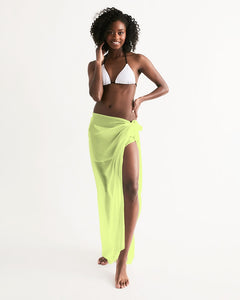 Chartreuse Wrap Swim Cover Up