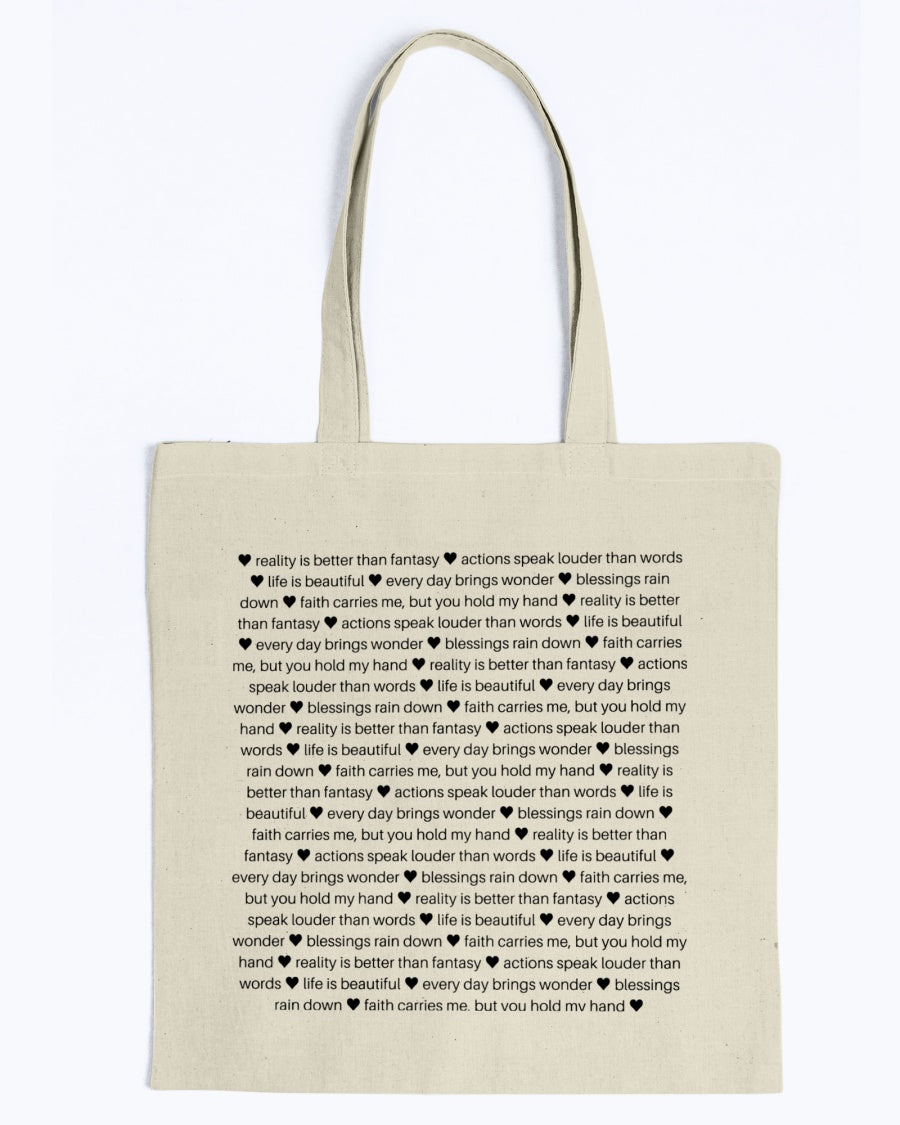 Sentimental Lightweight Canvas Tote