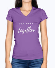 Load image into Gallery viewer, Ladies' Far Away Together V-neck T-shirt