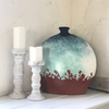 Morena Handcrafted Ceramic Distressed Oval Bottle