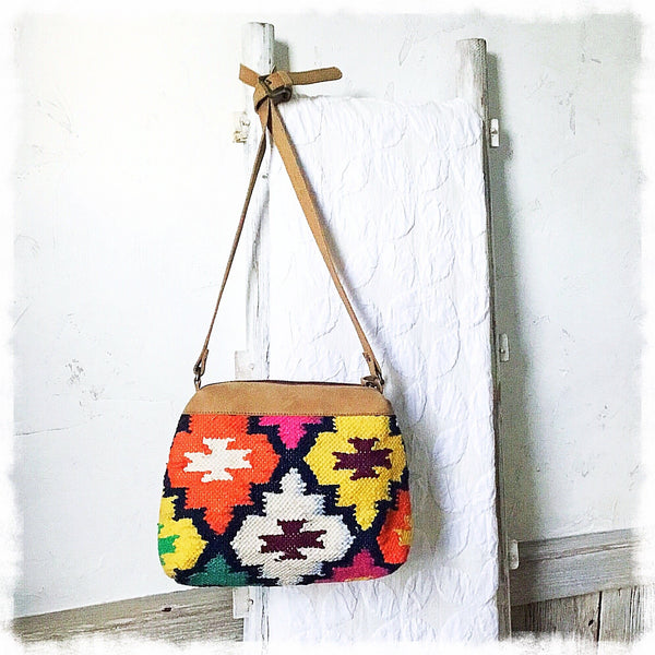 Solana Kilim Shoulder Bag - Soul Of The Rose®