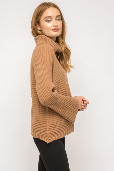 Bellissimo Dolman Sleeve Turtleneck Sweater