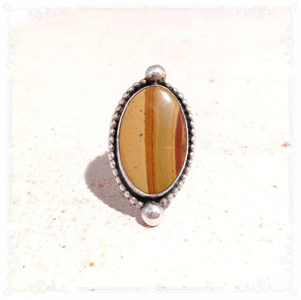 Canyon Vintage Sterling Petrified Wood Ring