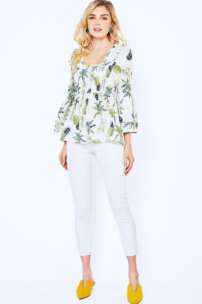 Hana Pineapple Print Top - Soul Of The Rose®