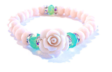 Creme de la Creme Rose Love Beads Bracelet - Soul Of The Rose®