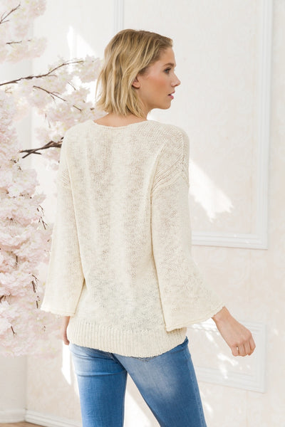 Abigail V-Neck Sweater Top