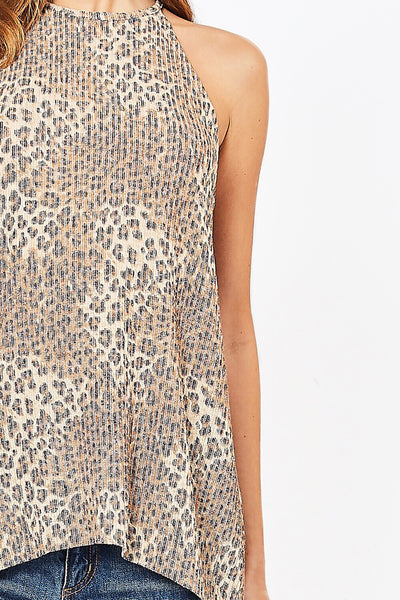 Lexi Leopard Print Sleeveless Top - Soul Of The Rose®